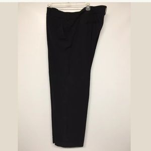 Lane Bryant Black Wide Cuffed  Dress  Pants